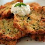 Zucchini Fritters and Creamy Dipping Sauce