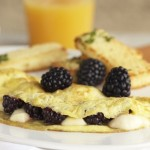 Blackberry and Brie Omelet