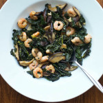 Shrimp with Kale and Shiitakes
